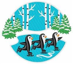 Winter Penguins Scene embroidery design