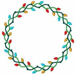 Christmas Lights Wreath embroidery design