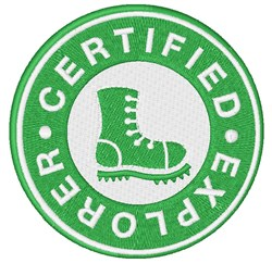 Certified Explorer embroidery design