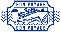 Bon Voyage embroidery design