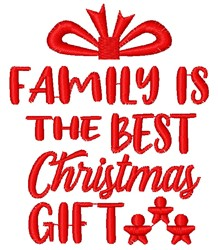 The Best Christmas Gift embroidery design