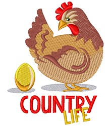Country Life Country Chicken embroidery design