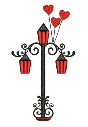 Street Lamp embroidery design