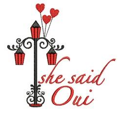 She Said Oui embroidery design
