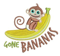 Gone Bananas embroidery design