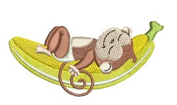Nap Monkey embroidery design