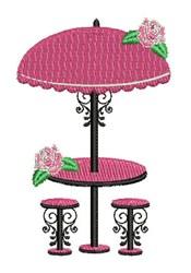 Umbrella Table embroidery design