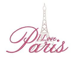 I Love Paris embroidery design
