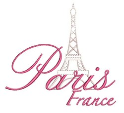 Paris France embroidery design