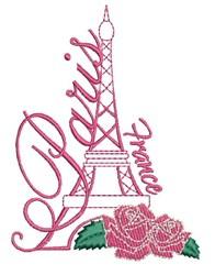 Paris France embroidery design