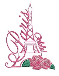Paris Oolala embroidery design