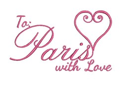 Paris With Love embroidery design