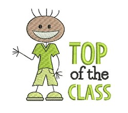 Top Of Class embroidery design