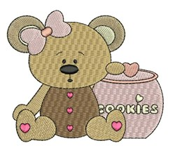Cookie Jar Bear embroidery design