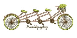 Friendship Cycling embroidery design