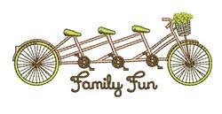 Family Fun embroidery design