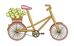 Floral Bike embroidery design