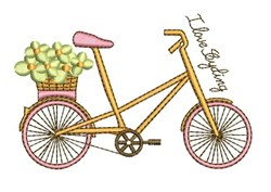 Love Cycling embroidery design