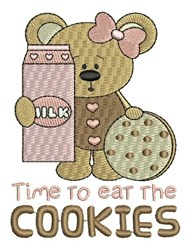 Eat The Cookies embroidery design