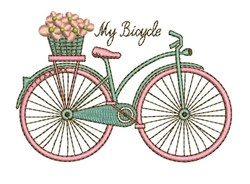 My Bicycle embroidery design