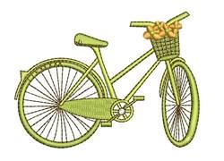 Green Bike embroidery design