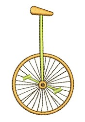 Unicycle embroidery design