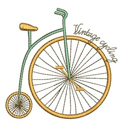 Vintage Cycling embroidery design