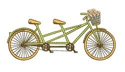 Tandem Bike embroidery design