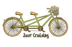 Just Cruising embroidery design