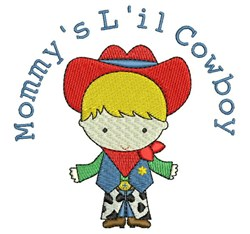 Mommys Lil Cowboy embroidery design