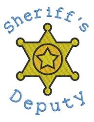 Sheriffs Deputy embroidery design