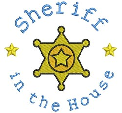 Sheriff In The House embroidery design
