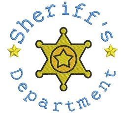 Sheriffs Department embroidery design