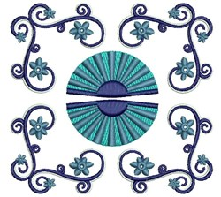 Fancy Fans embroidery design