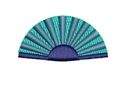 Blue Fan embroidery design