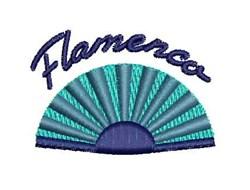 Flamenco Fan embroidery design