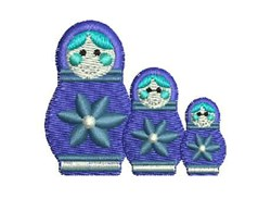 Russian Dolls embroidery design