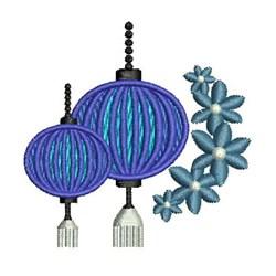 Oriental Lanterns embroidery design