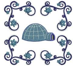 Igloo embroidery design