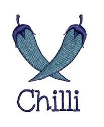 Chilli embroidery design