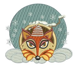 Night Fox embroidery design