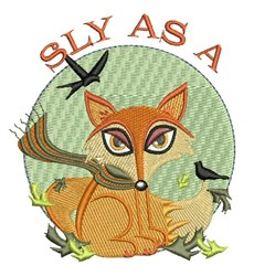 Sly As Fox embroidery design