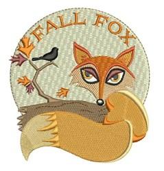 Fall Fox embroidery design