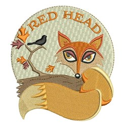 Red Head embroidery design