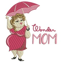 Wonder Mom embroidery design