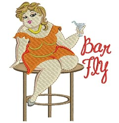 Bar Fly embroidery design