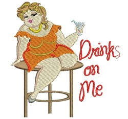 Drinks On Me embroidery design
