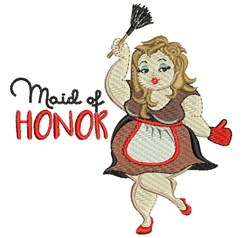 Maid Of Honor embroidery design