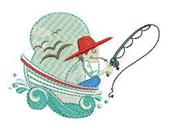Fishing Man embroidery design