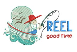 Reel Good Time embroidery design